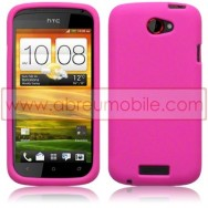 CAPA SILICONE PARA HTC ONE S ROSA