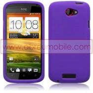 CAPA SILICONE PARA HTC ONE S ROXA