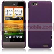 CAPA RIGIDA TRASEIRA HIBRIDA (PLASTICO C/REVESTIMENTO EM SILICONE) PARA HTC ONE V ROXA