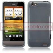 CAPA SILICONE GEL PARA HTC ONE V BRANCA (TRANSPARENTE)