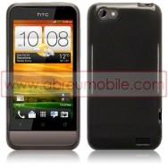 CAPA SILICONE GEL PARA HTC ONE V PRETA (TRANSPARENTE)