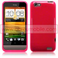 CAPA SILICONE GEL PARA HTC ONE V ROSA