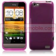 CAPA SILICONE GEL PARA HTC ONE V ROXA
