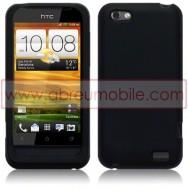 CAPA SILICONE PARA HTC ONE V PRETA