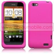 CAPA SILICONE PARA HTC ONE V ROSA