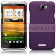 CAPA RIGIDA TRASEIRA HIBRIDA (PLASTICO C/REVESTIMENTO EM SILICONE) PARA HTC ONE X / ONE X+ ROXA
