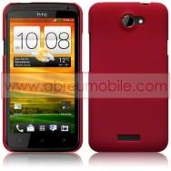 CAPA RIGIDA TRASEIRA HIBRIDA (PLASTICO C/REVESTIMENTO EM SILICONE) PARA HTC ONE X / ONE X+ VERMELHA