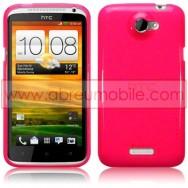 CAPA SILICONE GEL PARA HTC ONE X / ONE X+ ROSA TRANSPARENTE