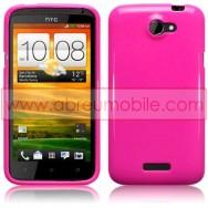CAPA SILICONE GEL PARA HTC ONE X / ONE X+ ROSA OPACA