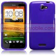 CAPA SILICONE GEL PARA HTC ONE X / ONE X+ ROXA OPACA