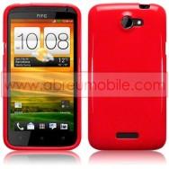 CAPA SILICONE GEL PARA HTC ONE X / ONE X+ VERMELHA OPACA