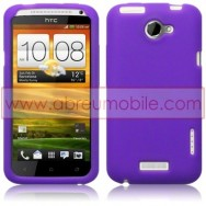 CAPA SILICONE PARA HTC ONE X / ONE X+ ROXA