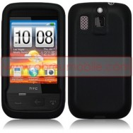 CAPA SILICONE PARA HTC SMART PRETA