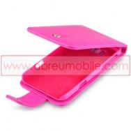 Bolsa / Capa Pele Sintetica Flip Cover Para HTC TITAN Rosa