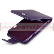 Bolsa / Capa Pele Sintetica Flip Cover Para HTC TITAN Roxa
