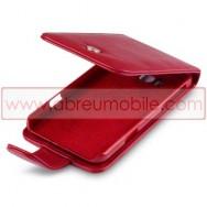 Bolsa / Capa Pele Sintetica Flip Cover Para HTC TITAN Vermelha