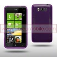 CAPA SILICONE GEL PARA HTC TITAN ROXA
