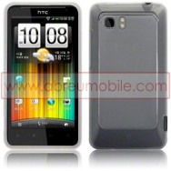 CAPA SILICONE GEL PARA HTC VELOCITY LTE BRANCA TRANSPARENTE