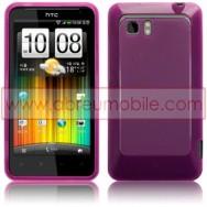 CAPA SILICONE GEL PARA HTC VELOCITY LTE ROXA