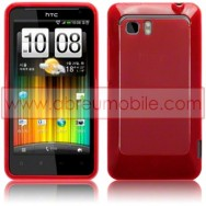 CAPA SILICONE GEL PARA HTC VELOCITY LTE VERMELHA