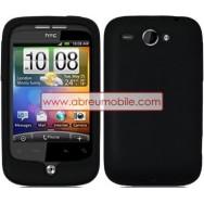 CAPA SILICONE PARA HTC WILDFIRE G8 PRETA