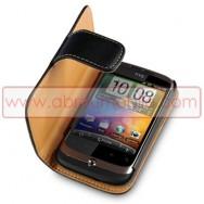 Bolsa / Capa Pele Sintetica Flip Cover Horizontal Para HTC WILDFIRE G8 Preta