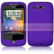 CAPA SILICONE PARA HTC WILDFIRE G8 ROXA