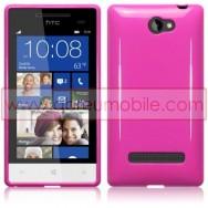 Capa Silicone Gel Para HTC WINDOWS PHONE 8S ROSA OPACA