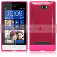 Capa Silicone Gel Para HTC WINDOWS PHONE 8S ROSA TRANSPARENTE