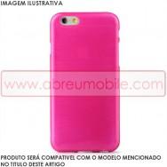 Bolsa / Capa Silicone Gel TPU c/ Efeito Metal Escovado Para HUAWEI P9 Rosa