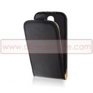 Bolsa / Capa Pele Sintetica2 Flip Para SAMSUNG GALAXY YOUNG S6310 S6312 Preta