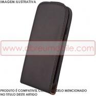 Bolsa / Capa Pele Sintetica Flip Cover Para SAMSUNG GALAXY ACE 2 I8160 Preta