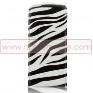 Bolsa / Capa Pele Sintetica Flip Para Samsung Galaxy S4 IV I9500 Zebra