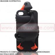"Capa Silicone 3D ""Cisne"" Para SAMSUNG GALAXY YOUNG S6310 S6312 Preta"