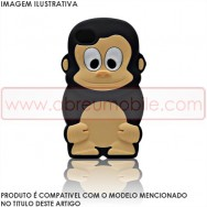 "Capa Silicone 3D ""Macaco"" Para SAMSUNG GALAXY S3 III I9300/NEO I9300L I9301L Preta"