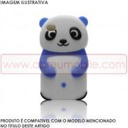 "Capa Silicone 3D ""Panda"" Para SAMSUNG GALAXY S3 III I9300/NEO I9300L I9301L Azul"