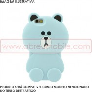 """Bolsa / Capa Silicone 3D """"Ursinho"""" Para APPLE IPHONE 6 / 6s 4.7"""" Azul"""