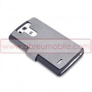 Bolsa / Capa Pele Sintetica Flip Horizontal Fina Para LG G3s / D722 Cinza