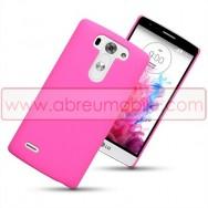 Capa Rigida Traseira Hibrida (Plastico C/Revestimento em Silicone) Para LG G3s / D722 Rosa