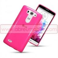 Capa Silicone Gel Para LG G3s / D722 Rosa Transparente