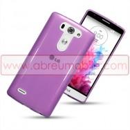 Capa Silicone Gel Para LG G3s / D722 Roxa Transparente
