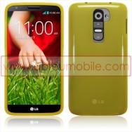 Capa Silicone Gel Para LG MAXIMO G2 / D802 Amarela Transparente