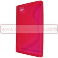 Capa Silicone Gel   Para LG MAXIMO VU P895 Rosa Transparente