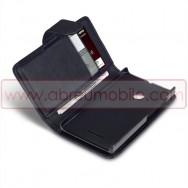 Bolsa / Capa Pele Sintetica Flip Cover Horizontal Para MICROSOFT LUMIA 435 Preta