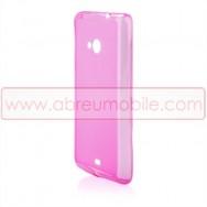Capa Silicone Gel Fusca Para MICROSOFT LUMIA 535 Rosa Transparente