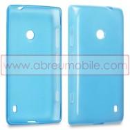 Capa Silicone Gel Para NOKIA LUMIA 520 / 525 Azul Transparente