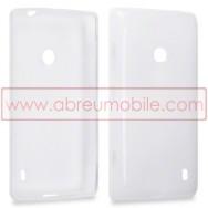 Capa Silicone Gel Para NOKIA LUMIA 520 / 525 Branca Transparente