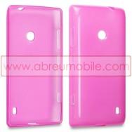 Capa Silicone Gel Para NOKIA LUMIA 520 / 525 Rosa Transparente