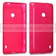 Capa Silicone Gel Para NOKIA LUMIA 520 / 525 Vermelha Transparente