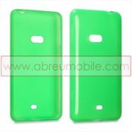 Capa Silicone Gel Para NOKIA LUMIA 625 Verde Transparente